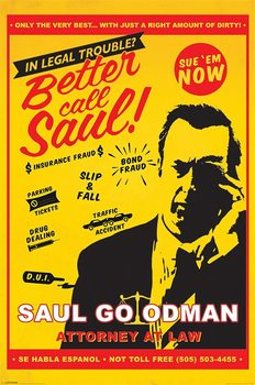 Breaking Bad - Better Call Saul Attorney At Law Poster, Art Print