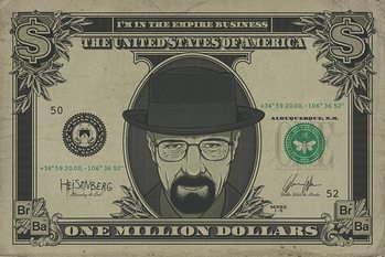 Breaking Bad - Heisenberg Dollar Poster, Art Print