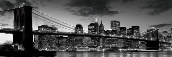 Brooklyn bridge - dusk Poster, Art Print