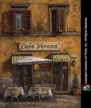 Café Verona Art Print