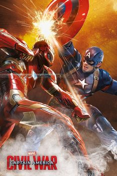 Captain America: Civil War - Fight Poster, Art Print