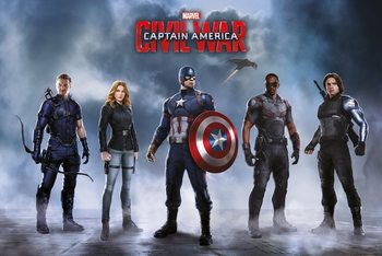 Captain America: Civil War - Team Captain America Poster, Art Print