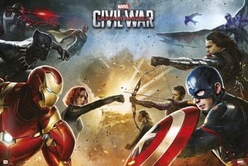 Poster Captain America Civil War - Teams