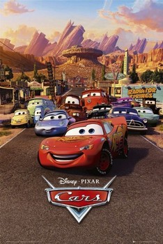 CARS - one sheet Poster, Art Print