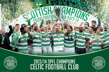 Celtic FC - SPL Winners 13/14 Poster