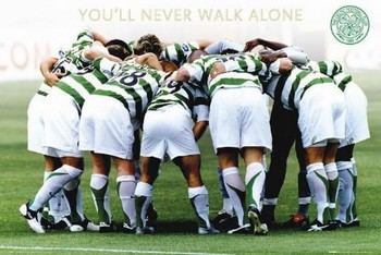Celtic - huddle Poster