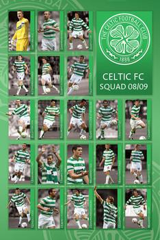 Pôster Celtic - squad 2008/2009