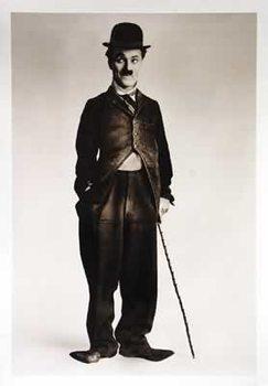 Pôster Charlie Chaplin - b&w Walking Stick