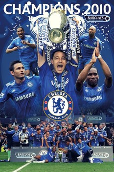 Chelsea - champions 2010 Poster