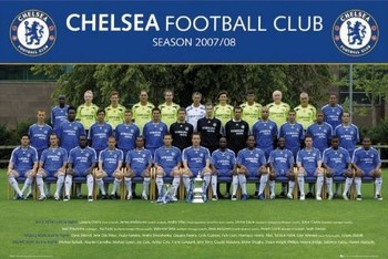 Chelsea - Team photo 07/08 Poster