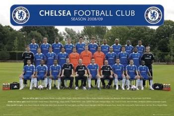 Chelsea - Team photo 08/09 Poster