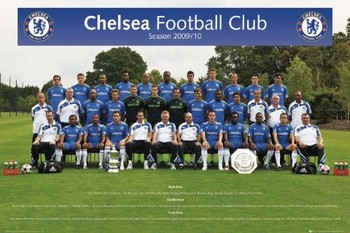 Chelsea - Team photo 09/10 Poster