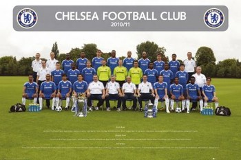 Chelsea - Team photo 2010/2011 Poster