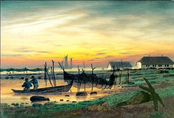 Coastal Landscape in Twilight, 1818 Art Print