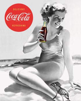 COCA-COLA - beach Poster, Art Print