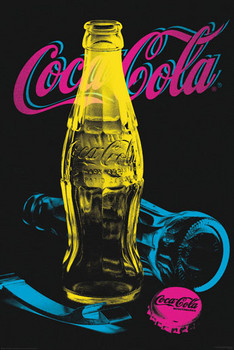 Poster Coca Cola - Black light
