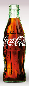 Poster Coca Cola - contour bottle