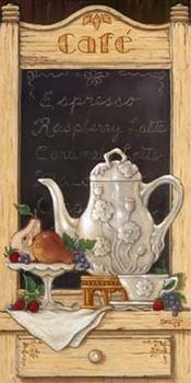 Coffee and Fruit II Art Print