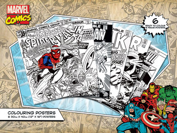 Marvel Comics - Covers Coloring Poster