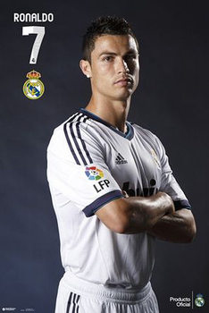 Cristiano Ronaldo - real madrid N.7 Poster