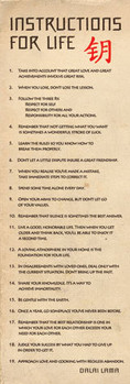 Pôster Dalai Lama - návody pro život