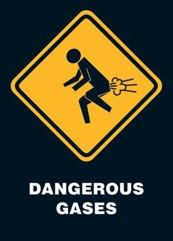 Dangerous gases Poster