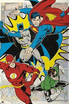 Poster DC Comics - 4 Superheroes