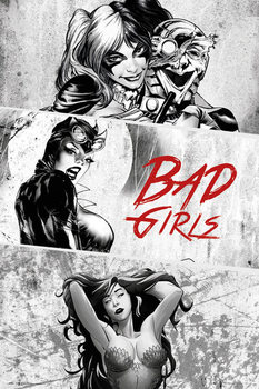 DC Comics - Badgirls (B&W) Poster, Art Print