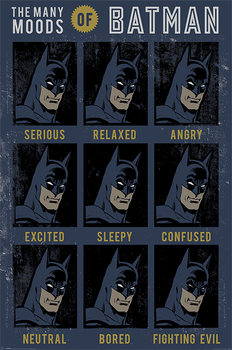 Poster DC Originals - The Many Moods Of Batman