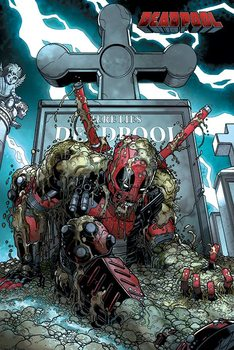 Deadpool - Grave Poster, Art Print