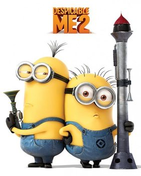 DESPICABLE ME 2 - armed minions Poster, Art Print