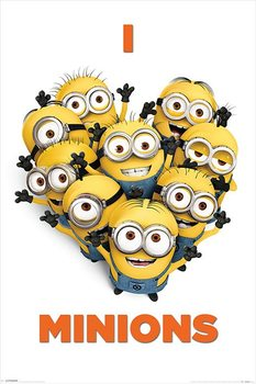 DESPICABLE ME 2 - i love minions Poster, Art Print
