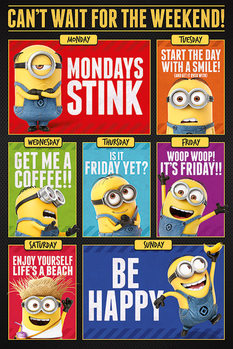 Poster Despicable Me 3 - Cant wait for the weekend
