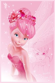 Disney Fairies - Tink Pink Poster, Art Print