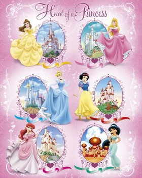 DISNEY PRINCESS - cast Poster