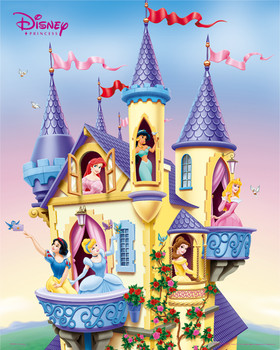 DISNEY PRINCESS - castle Poster, Art Print