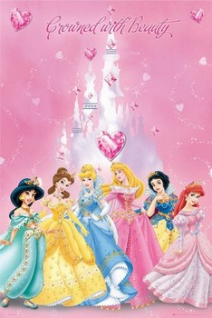 DISNEY PRINCESS - crowned Poster
