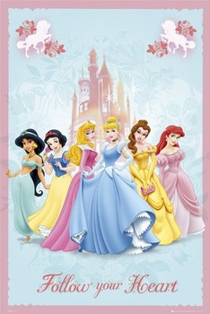 DISNEY PRINCESS - follow Poster
