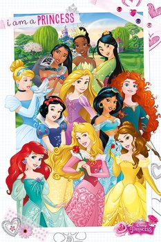 Pôster Disney Princess - I am a Princess