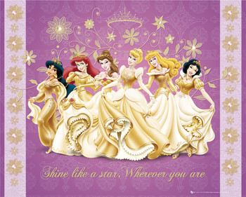 DISNEY PRINCESS - shine Poster