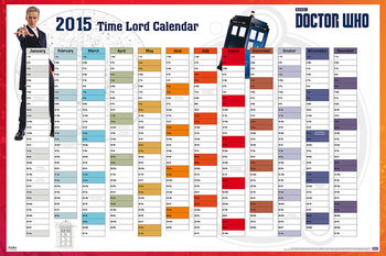 Poster Doctor Who - 2015 Time Lord Calender