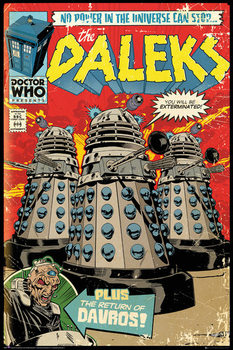 Doctor Who - Red Dalek Comic Poster, Art Print