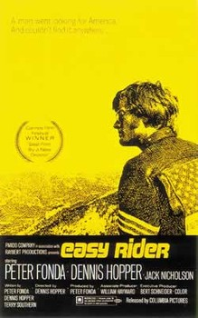 EASY RIDER - us one sheet / yellow Poster, Art Print