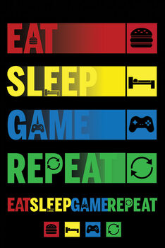Poster Eat Sleep Game Repeat