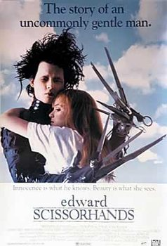 EDWARD SCISSORHANDS - Johnny Depp, Winona Ryder Poster