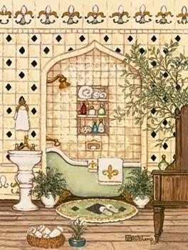 Elegant Bath III Art Print