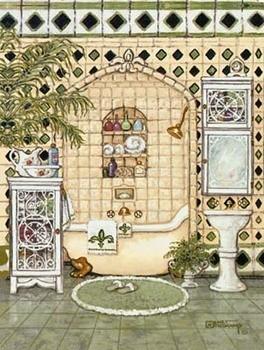 Elegant Bath IV Art Print