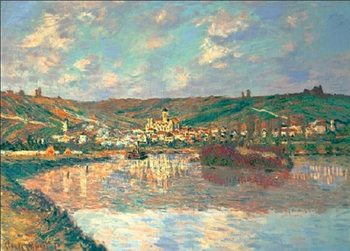 End of the afternoon in Vétheuil Art Print