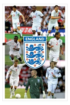 England - 8 players montage Poster