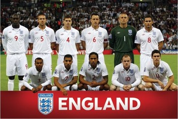 England - Team shot Poster, Art Print